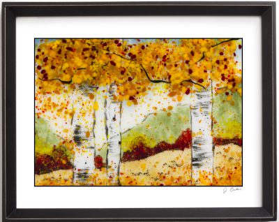 Sgraffito Aspen 10 - Framed