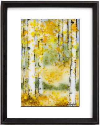 Sgraffito Aspen 36 - Framed
